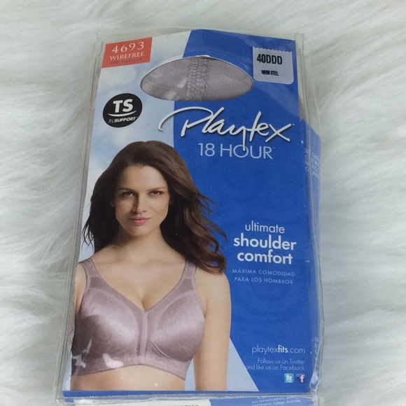 e2d8bf045d New Warm Steel 4693 Playtex Wirefree Bra